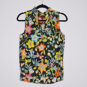 J Crew Liberty Pavillon Floral Sleeveless Top Sz 4